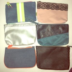 Six Ipsy bags in great used condition.